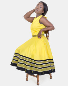 ONA Umbaco Andiswa Dress with Matching Head Rap