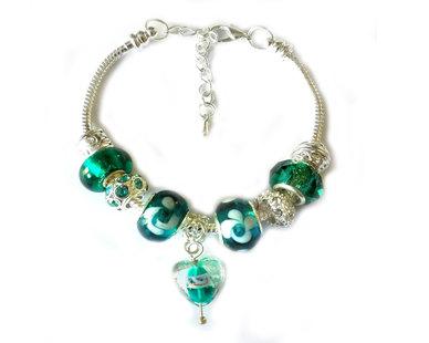 Urban Charm Gemmabella Charm Bracelet - Emerald Dream