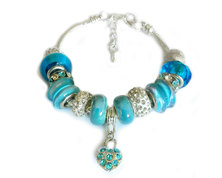 Urban Charm Gemmabella Charm Bracelet - Crystal Blue