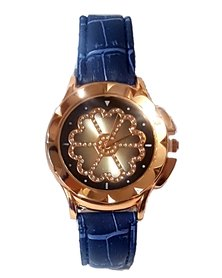 The Jewellery Box Ladies Flower Power Watch - Blue