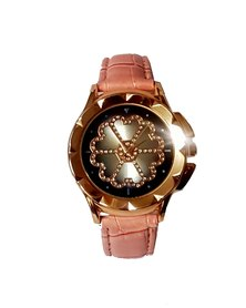 The Jewellery Box Ladies Flower Power Watch - Pink