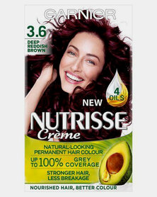 Garnier Nutrisse Creme Permanent Hair Dye Deep Reddish Brown 3.6