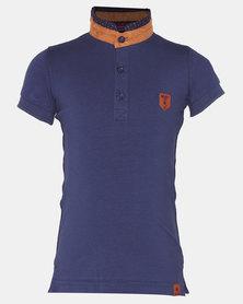 Soviet Boys Delphi Short Sleeve Fancy Fashion Golfer New Blue