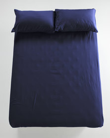 Utopia Fitted Sheet Navy