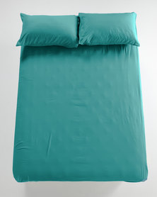 Utopia Fitted Sheet Turquoise