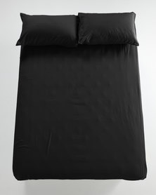 Utopia Fitted Sheet Black