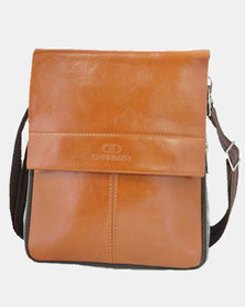 Charmza Alpha Business Sling Bag - Light  Brown