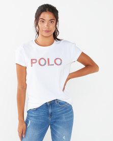 Polo LDS Lexi Short Short Printed Tee White