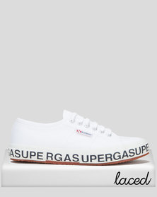 Superga Cotlettering Logo Sneakers White