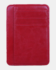 Charmza RFID Credit Cards Holder - Red