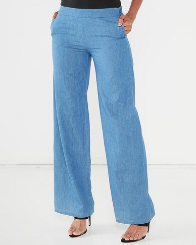 Maya Prass Wren Wide-Leg Trousers Denim