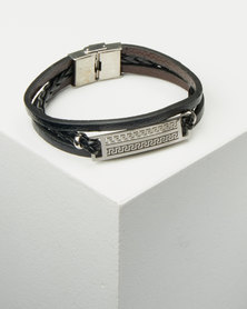 Xcalibur Braided ID Mens Bracelet Black