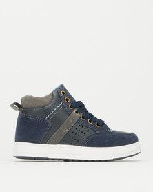 AWOL Boys Hi Top Sneakers Navy