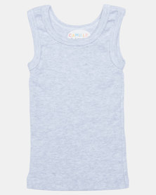 Camille Sleeveless Top Grey