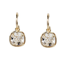 Civetta Spark Starfish Hoop Earrings with Swarovski Crystal - 14K gold