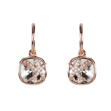 Civetta Spark Starfish Hoop Earrings with Swarovski Crystal - Rosegold