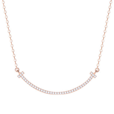 Civetta Spark Tiffy 925 Sterling Silver Necklace - Rosegold