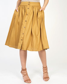 non-european® Buttoned Waistline Skirt Hazel