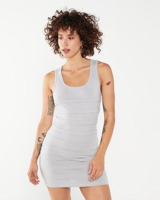 Utopia Ruffle Bodycon Dress Grey