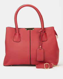 Utopia Plain Double Handle Tote Red