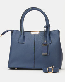 Utopia Plain Double Handle Tote Navy