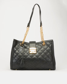 Utopia Quilted Rectangle Bag Black