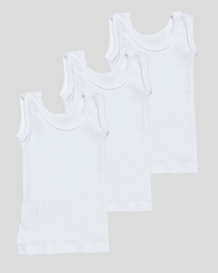 Camille 3 Pack Sleeveless Top White