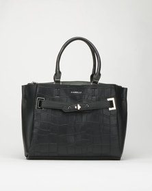 Fiorelli Alma Buckle Front Tote Bag Black
