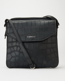 Fiorelli Taylor Croc Crossbody Bag Black