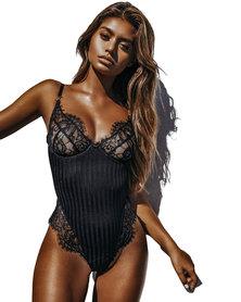 I Love Lingerie, Aldana Bodysuit Black