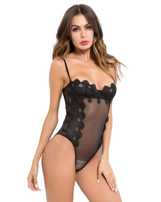 I Love Lingerie, Emily-Jane Bodysuit Black Lace
