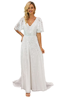 Living The Dream Boho Ruffle Sleeve Gown