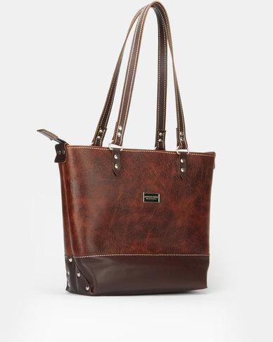 Bonnie & Clyde LTD Leather Handbag Cuban Cigar