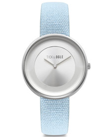 Tick & Ogle Womens Watch Leather Strap Blue Arrow