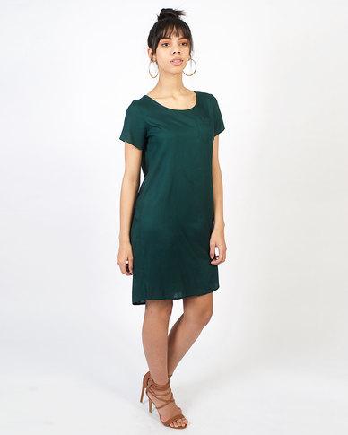 non-european® Trendy Tee Dress Bottle Green
