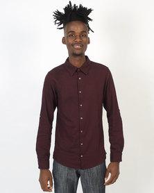 non-european® Formal Cotton Shirt Burgandy