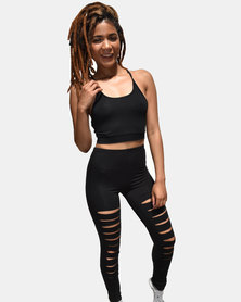 SKA Ripped Cotton Legging Black
