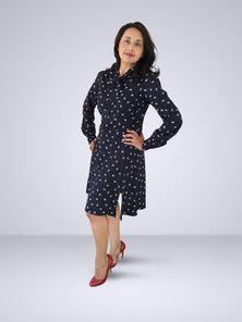 HEMISA - Odette Dress - Navy