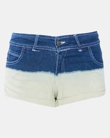 Lizzy Peony Fixed Walking Shorts Blue