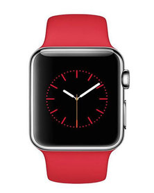 Techaddon Silicone Band for Apple Watch 42mm & 44mm Red