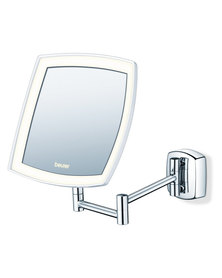 Beurer Illuminated Mounted Cosmetics Mirror BS 89 5x Magnification