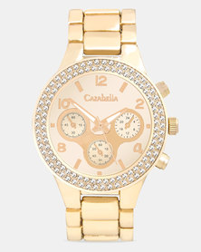 Cazabella Ladies Classy Rose Gold Tone Watch