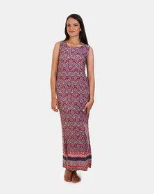 Khyris Maxi Border Dress Multi