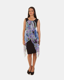 Khyris Scarf Dress Purple/Black