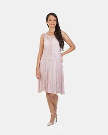 Khyris Lace Dress Nude