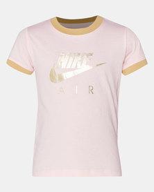 Nike Girls Echo Nike Air Logo Tee Pink