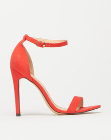 Foot Focus Wide Fit Barely There Heels Coral