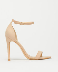 Foot Focus Wide Fit Barely There Heels Nude