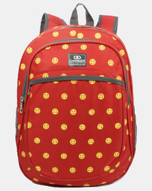 Emoji School Backpack Smile 20L - Red