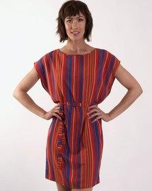 Marique Yssel Boatneck Tunic - Rust Stripe